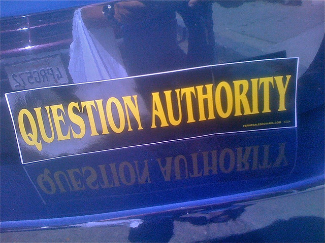 Question authority curiousyellow